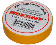 Изолента 19мм х 25м желтая REXANT