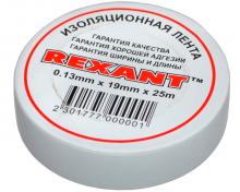 Изолента 19мм х 25м белая REXANT