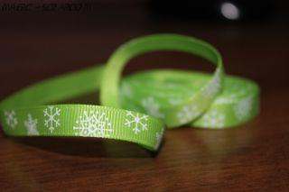 "Лента ""Зеленые снежинки"""