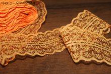 Кружевная оранжевая лента