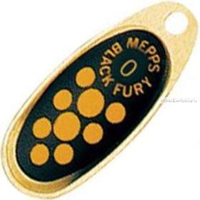 Купить Блесна Mepps Comet Black Fury цвет OR/JN / №0 2.5гр