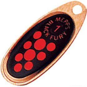 Купить Блесна Mepps Comet Black Fury цвет CU/OR / №4 9гр
