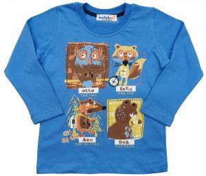 Майка для мальчика синяя с животными Турция Ватч Ми
