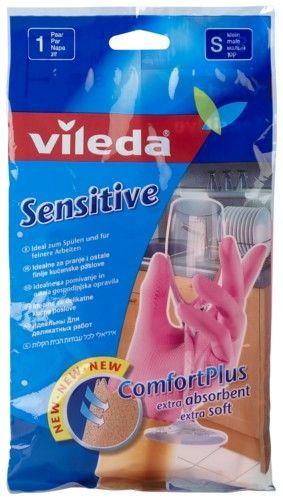 """Vileda Перчатки """"Sensitive"""" для деликатных работ, размер S, 1 пара"""