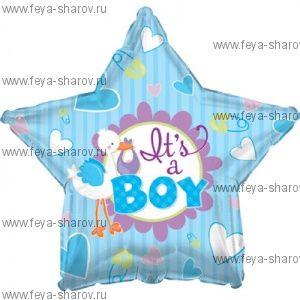 Шар Аист принес мальчика 46 см