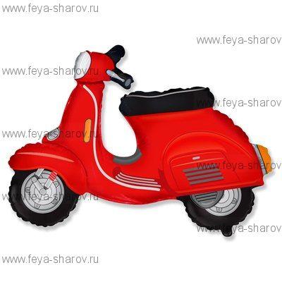 Шар фольгированный Скутер красный 81 см