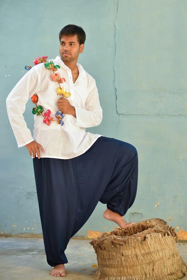 Разные цвета! Мужские штаны алладины из хлопка (Москва)