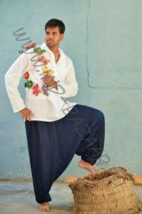 Разные цвета! Мужские штаны алладины с узким поясом (СПб)