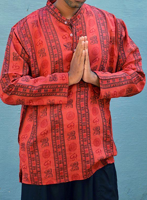 Красная рубашка с омчиками (отправка из Индии)