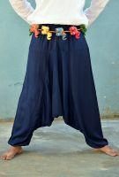 Синие индийские штаны алладины для мужчин, хлопок. Интернет магазин