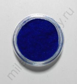 Кашемир для дизайна ногтей, Цвет синий, маленькая баночка