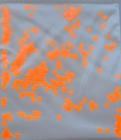 Звезды неоновые светло-оранжевые (3мм)