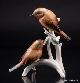 Две малиновки на ветке, Karl Ens, Германия., артикул 01153