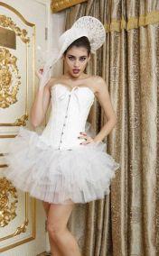 Белая пышная многослойная юбка из фатина
