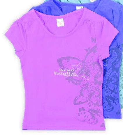 Сиреневая блуза для девочки Бабочки