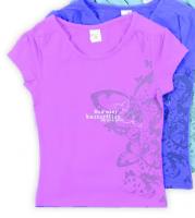 сиреневая блузка для девочки