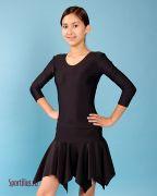 детская юбка для гимнастики чёрного цвета