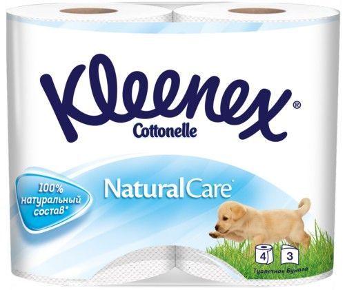 KLEENEX Туалетная бумага трехслойная, 4 шт
