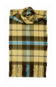 шарф 100% драгоценный кашемир , расцветка  клан Дуглас - Оливковый