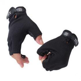 Изностойкие перчатки без пальцев для занятий спортом
