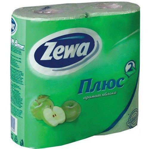 """Zewa туалетная бумага """"Плюс"""" 2 слойная с ароматом яблока, 4 шт"""