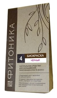 Биокраска Фитоника №4 «Чёрный цвет», 30 гр.