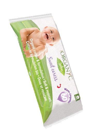 Organyc Детские влажные салфетки, 60 шт.