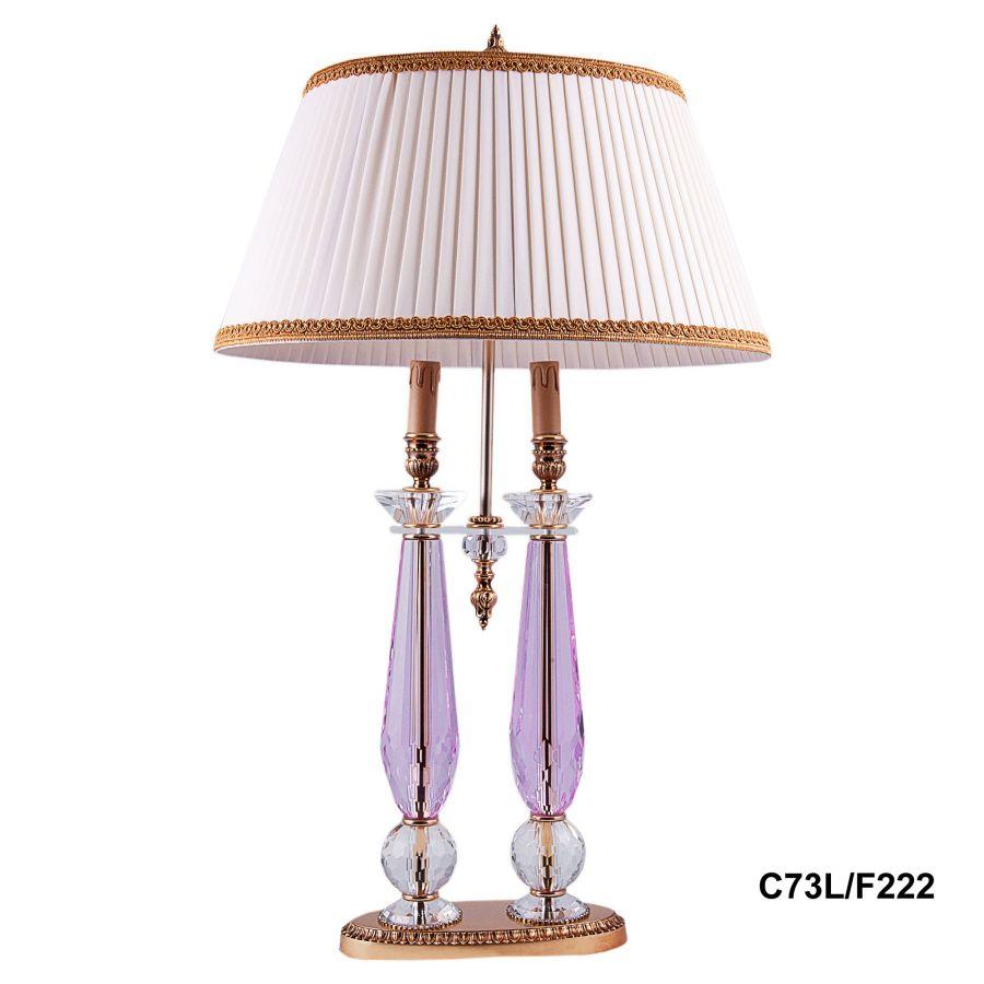 """Лампа настольная 2 рожка """"Demetra"""" (pink) C73L/F222"""