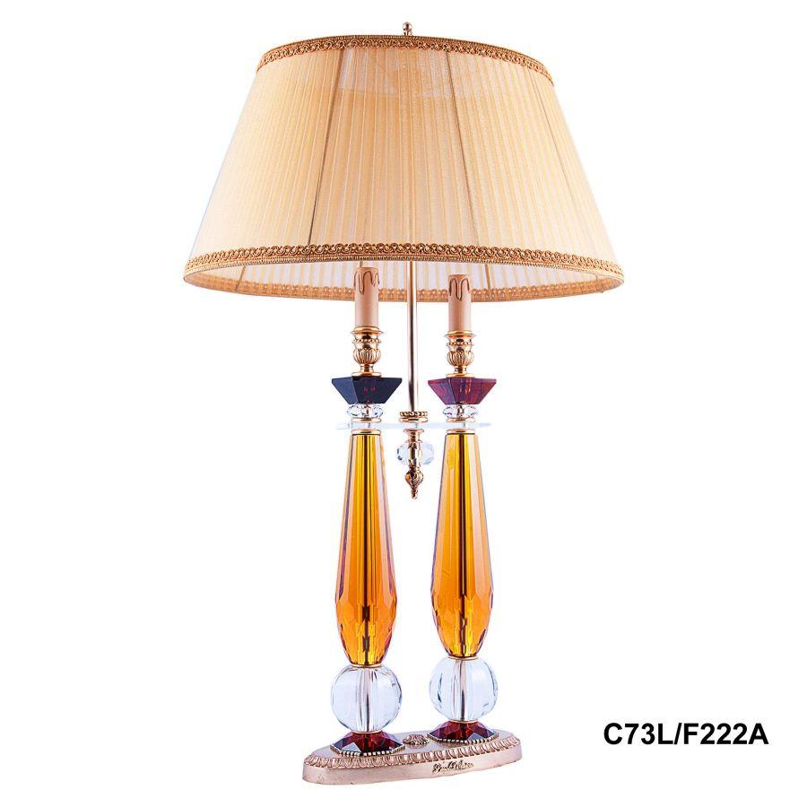 "Лампа настольная 2 рожка ""Demetra"" (amber) C73L/F222A"