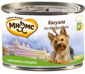 Мнямс консервы для собак Касуэла по-Мадридски (кролик с овощами), 200 г.