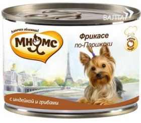 """Мнямс"" - консервы для собак фрикасе по Парижски (индейка с грибами), 200 г."