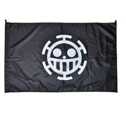 Флаг One Piece Trafalgar (черный)