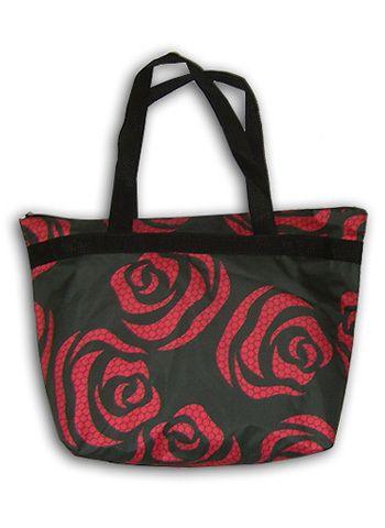"""Пляжная сумка """"ПодЪполье"""" Red roses"""