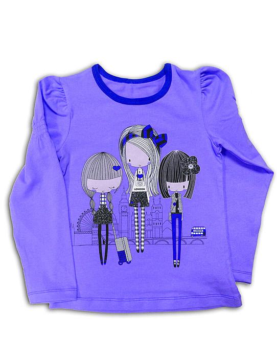 Голубая блуза для девочки Девчата