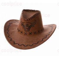 Ковбойская шляпа с изображением быка, тёмно-коричневая