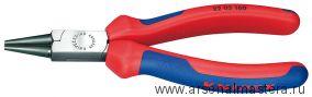 Круглогубцы с плоскими губками и режушими кромками, радиомонтажные KNIPEX 25 02 140
