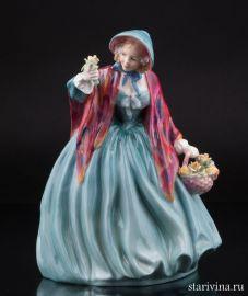 Очаровательная леди с цветами, Royal Doulton, Великобритания
