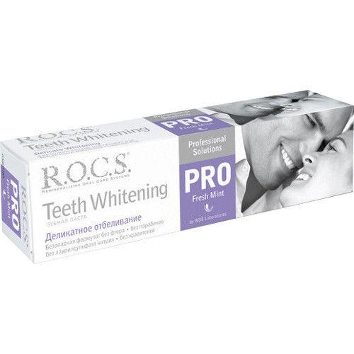 """R.O.C.S. зубная паста """"Деликатное отбеливание Fresh Mint"""", 135 г"""