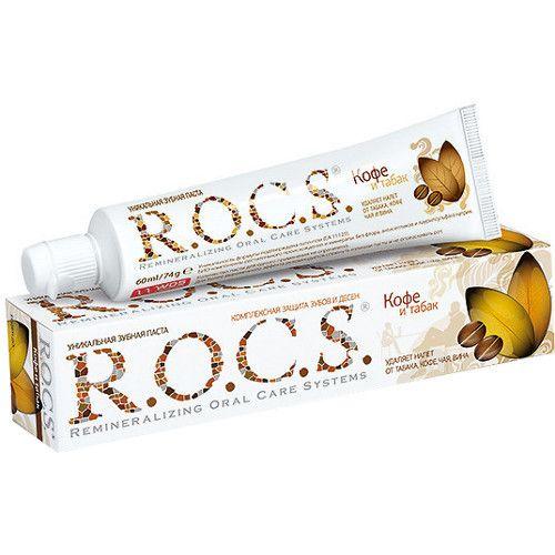 """R.O.C.S. зубная паста """"Кофе и табак"""", 74 г"""
