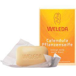 WELEDA Растительное мыло с календулой и лекарственными травами, 100 г