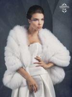 Свадебные меховые накидки купить от бренда Скорняковой в Москве фото