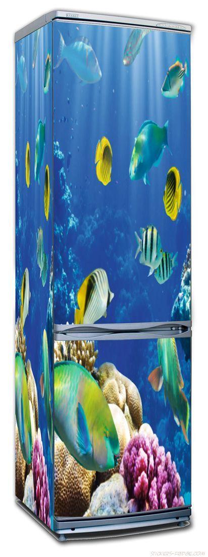 Наклейка на холодильник - Лагуна