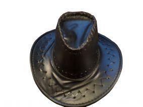 Детская ковбойская кожаная шляпа черная