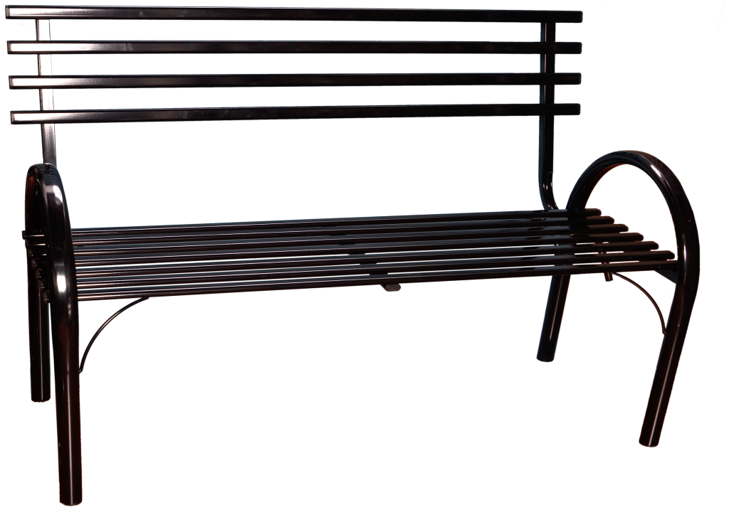 Скамейка цельнометаллическая со спинкой №3 ЗМИ