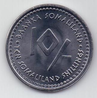 10 шиллингов 2006 г. Водолей Сомали