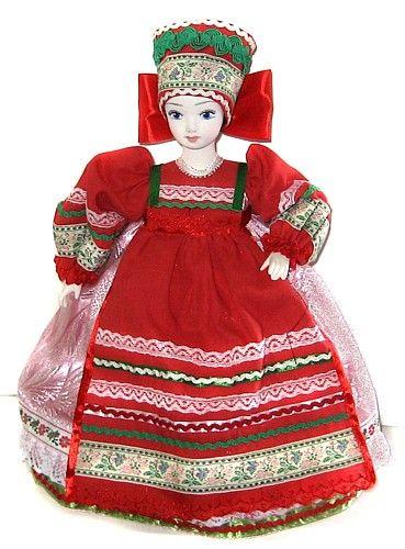 Кукла грелка на чайник Мила
