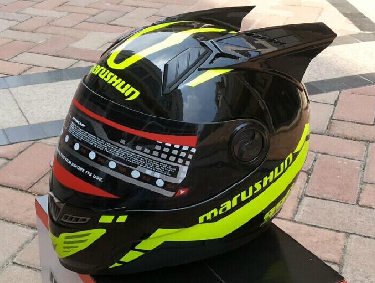 Мотошлем Marushin 999 c ушами (интеграл) чёрный