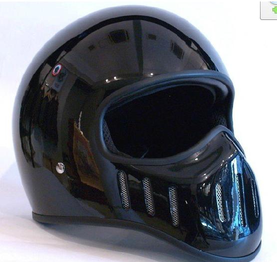 Мотошлем TT & CO  Ghost Rider Harley (интеграл) чёрный глянцевый