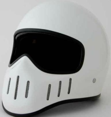 Мотошлем TT & CO  Ghost Rider Harley (интеграл) белый