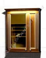 """Зеркало-шкаф для ванной с подсветкой """"Челси-1 АЛЕКС-75 орех"""""""